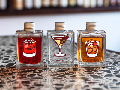 Cocktail Illustration set