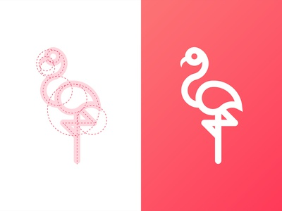 Flamingle Logo Design