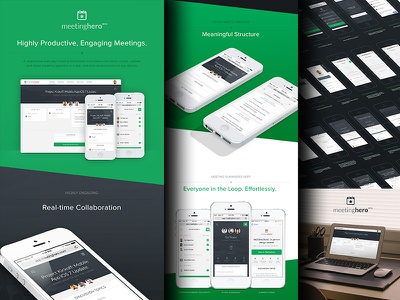 MeetingHero Case Study product design mobile mobile app responsive web app web design user experience interaction design real-time