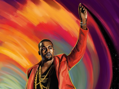 Touch The Sky illustration portrait music touch the sky ye yeezus the life of pablo graduation cap the college dropout late registration painting kanye west kanye