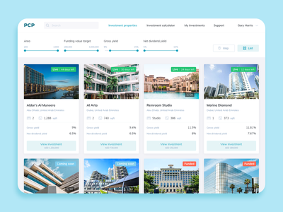 Property Crowdfunding Platform ux website web ui design illustration