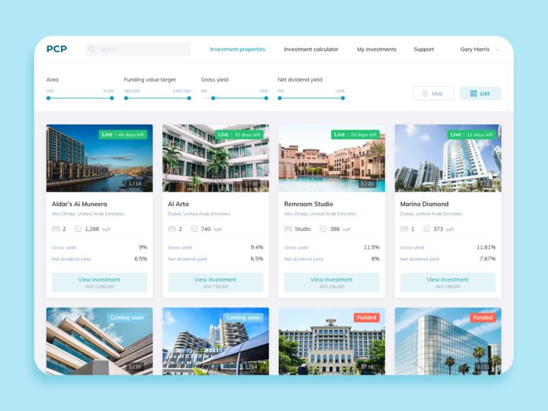 Property Crowdfunding Platform ux website web ui design illustration
