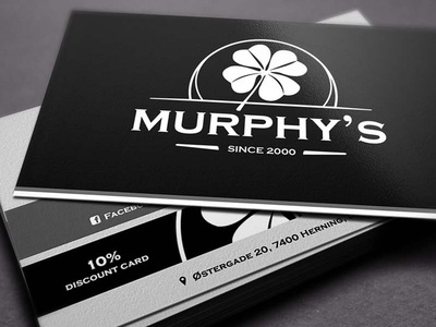 Murphy's pub logo and business card