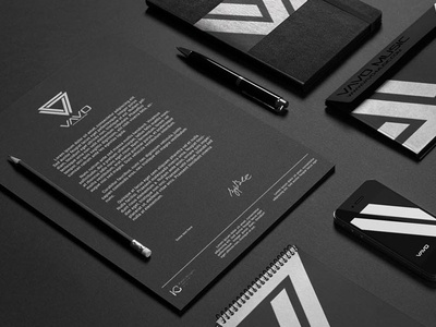 Corporate stationery branding - VAVO