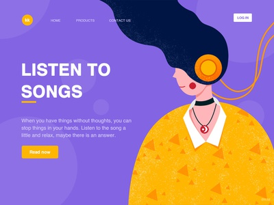 Listen To Songs ui design