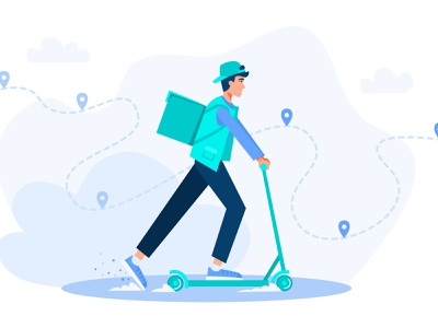 Delivery container fast food pizza thermo communication logistic ecological moving parcel electrical carry technology express job background delivery service delivery app adobe illustrator vector illustration