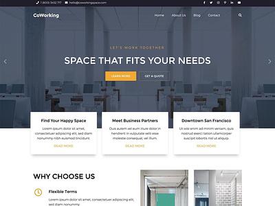 Coworking coworking space coworking business website responsive design joomla template template joomla responsive