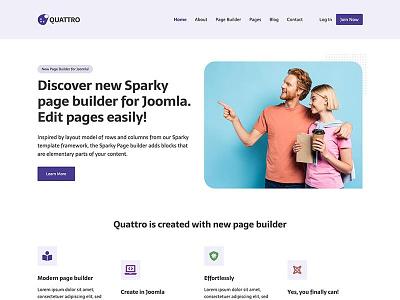 Quattro page builder responsive design joomla template template joomla responsive