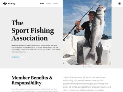 Fishing page builder responsive design joomla template template joomla responsive