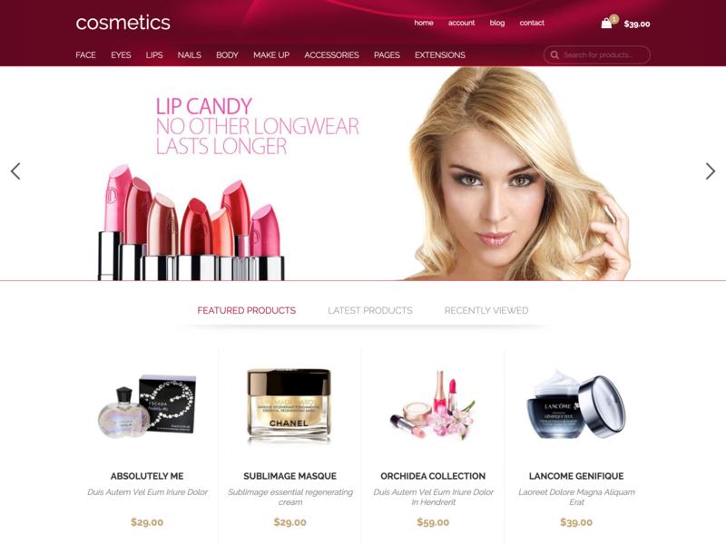Hot Cosmetics virtuemart ecommerce online shop cosmetics cosmetic responsive design responsive template joomla template joomla