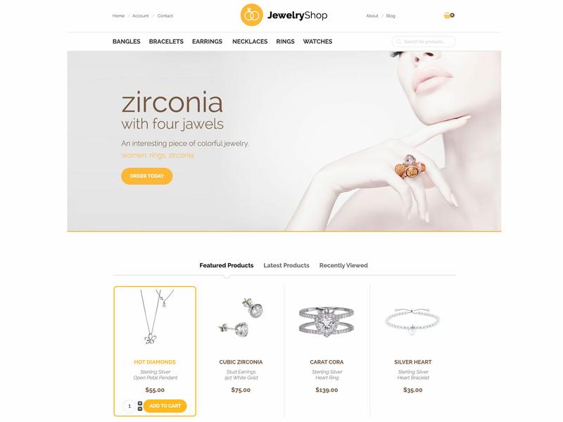 Hot Jewelry1 jewelry jewellery jewelery virtuemart online shop ecommerce responsive design responsive template joomla template joomla