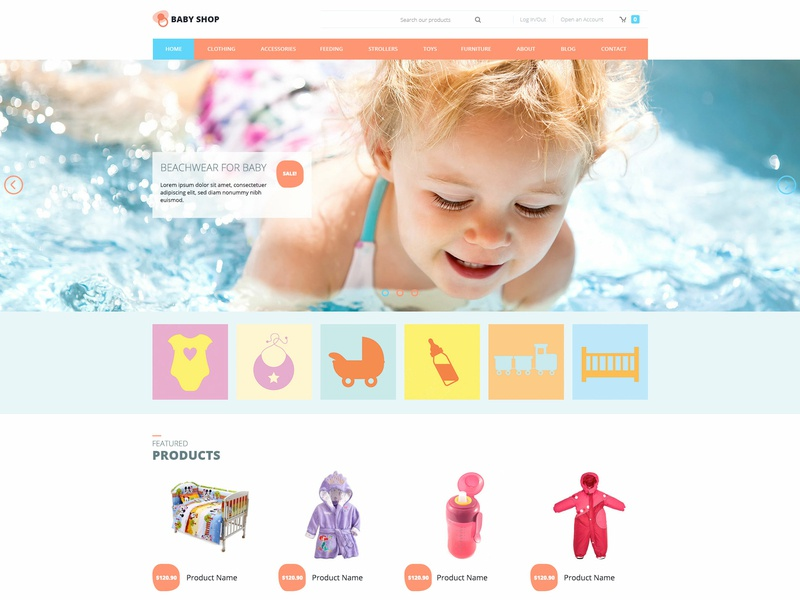 Hot Baby Shop kids store baby clothes virtuemart online shop ecommerce responsive design responsive joomla template template joomla