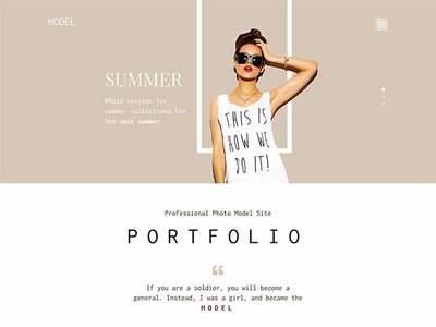 Hot Model by HotThemes on Dribbble