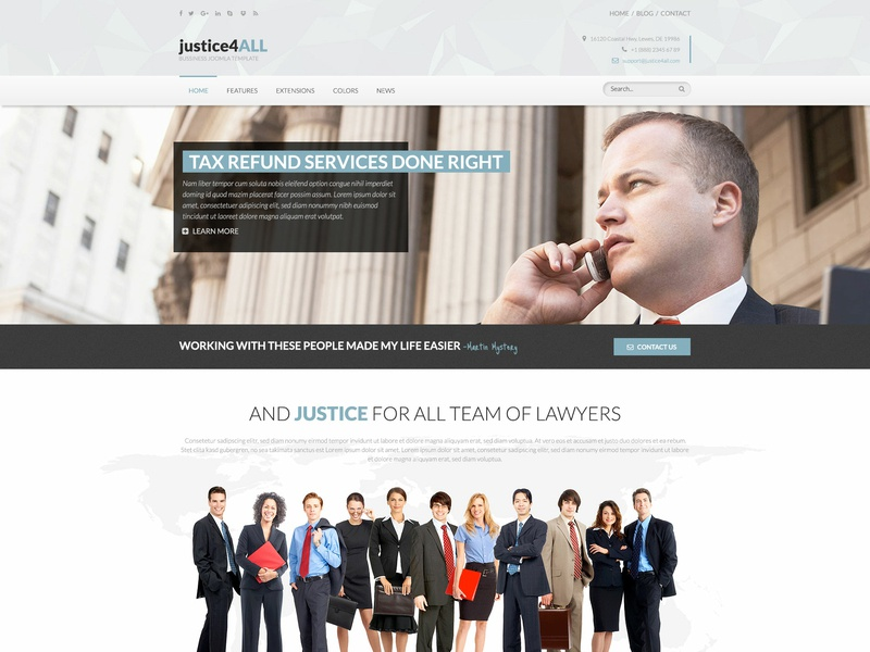 Hot Justice law office law firm law business agency corporate website responsive design joomla template template joomla responsive