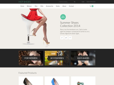 Hot Shoes virtuemart shoes store app online shop ecommerce responsive design joomla template template joomla responsive