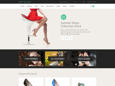 Hot Shoes virtuemart shoes store app online shop ecommerce responsive design joomla template template joomla responsive