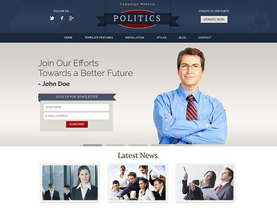 Hot Politics politics political campaign politicians politician political responsive design joomla template template joomla responsive