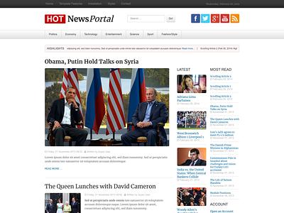 News Portal news site portal responsive design joomla template template joomla responsive