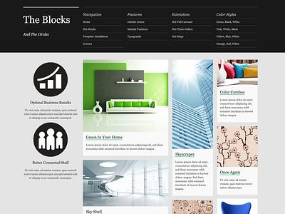 Hot Blocks masonry portfolio website portfolio site responsive design joomla template template joomla responsive