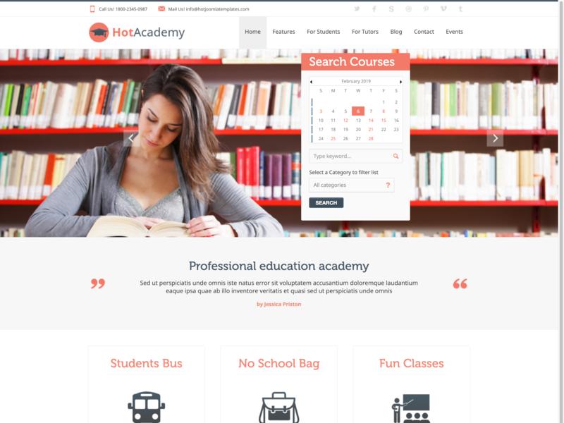 Academy schools university school website academy learning platform learning responsive design joomla template template joomla responsive