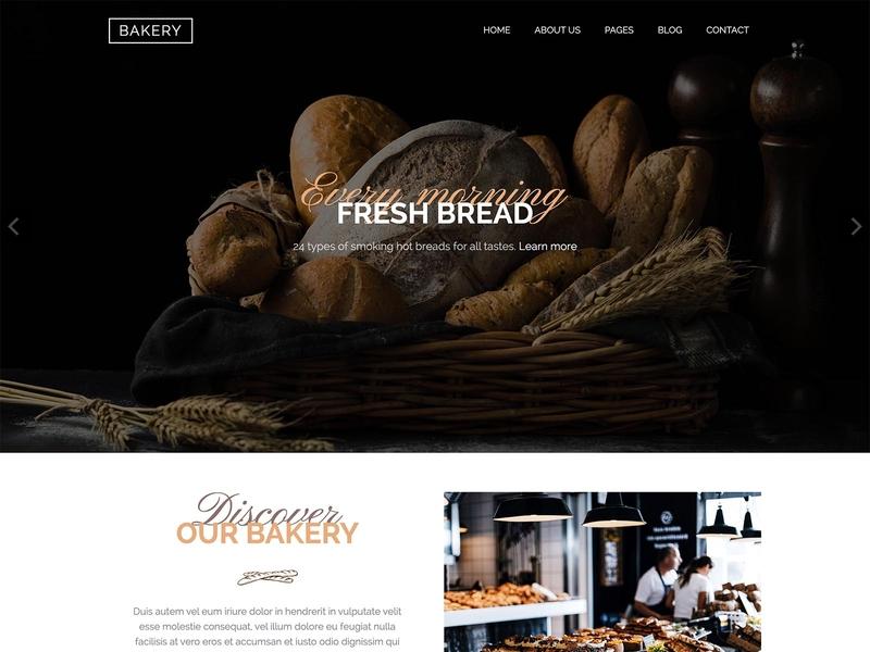 Hot Bakery restaurant bakery food and drink responsive design joomla template template joomla responsive