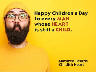 Childern S Day bearded man art children men image editing graphic art branding typography photoshop