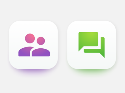 Not flat not flat app icons gradient icons