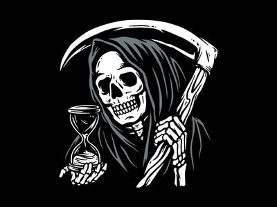 Time's Up tattoo art art design reaper skull tattoo clothing t-shirt apparel illustration