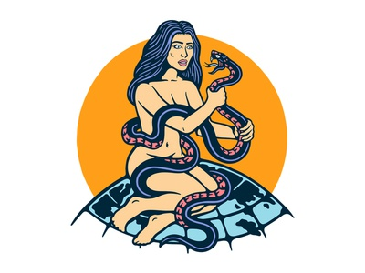 Snakes Will Bite graphic design 2d art t-shirt creative snake tattoo apparel illustration