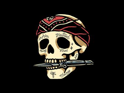 Rebel graphic design 2d branding tattoo skull clothing design t-shirt apparel illustration