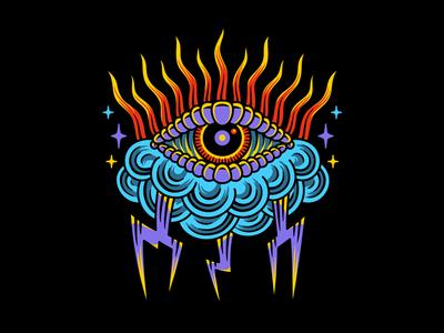 Gloomy traditional art 2d graphic design tattoo clothing design t-shirt apparel illustration