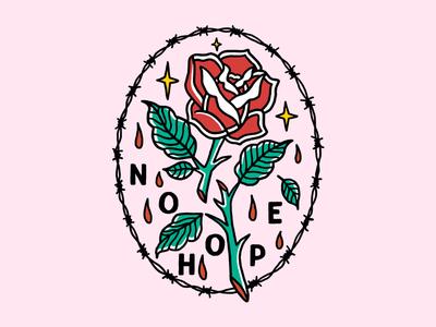 Love graphic design logo creative 2d rose tattoo clothing design t-shirt apparel illustration