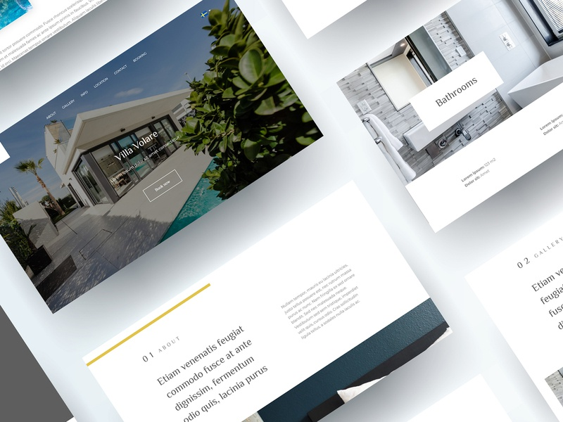 Villa Volare design stack booking accomodation villa ui ux digitalcreation digitaldesign design website design website web design webdesign
