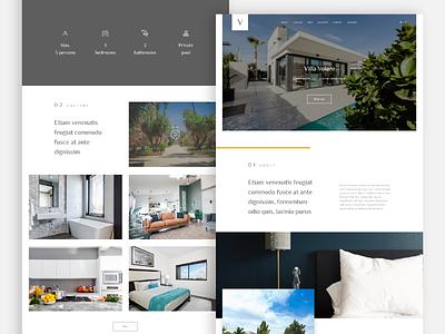 Villa landing page flaticon unsplash icons graphics uxui ui ux landing page design landingpage webdesign villa