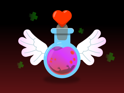 Health Potion games game potion magic ui vector illustraiton