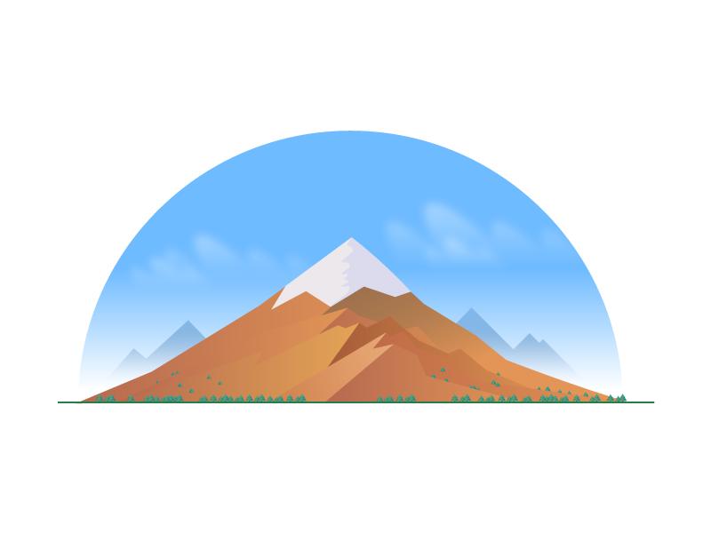 Mountain landscape mountain wyzowl vector illustraiton