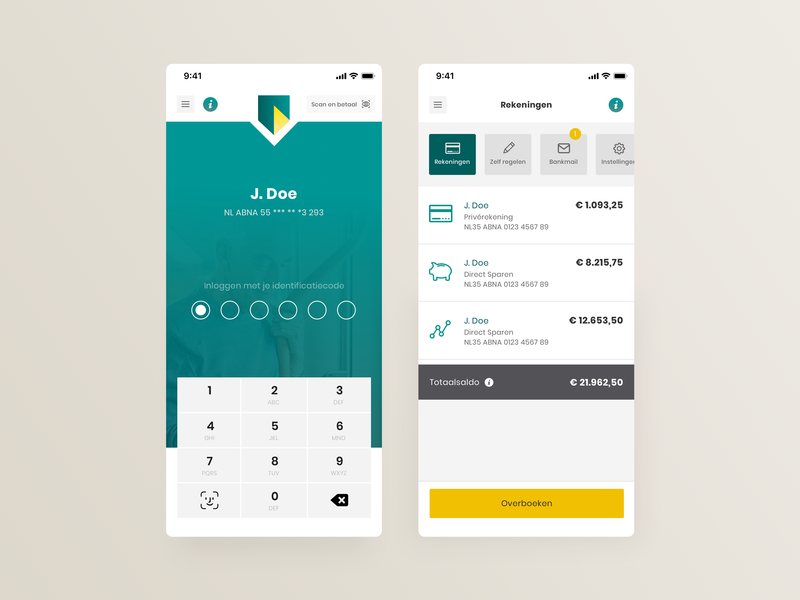 Daily UI - ABN AMRO redesign banking banking app simple brand logo app design rebranding product design user experience user interface ux ui app concepting clean branding