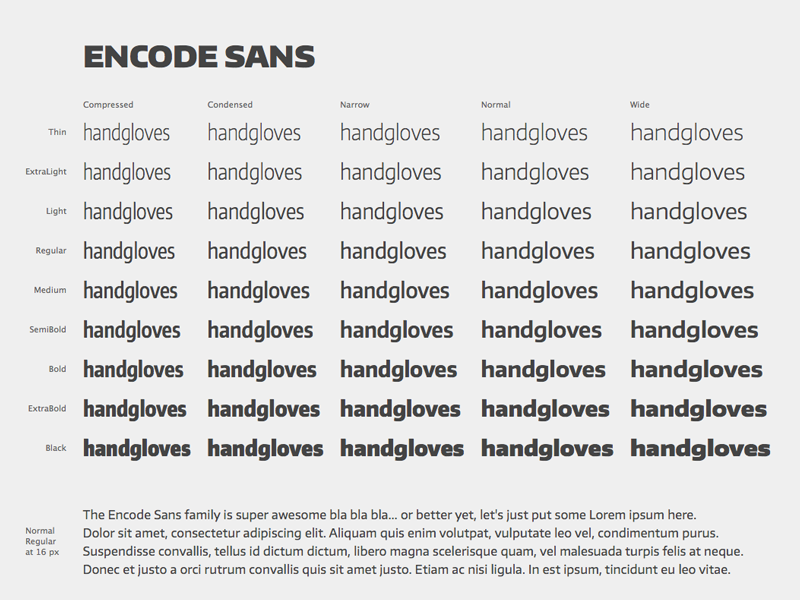 Encode Sans 45 Free Fonts by Pablo Impallari on Dribbble