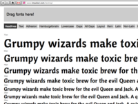Drag-And-Drop Font Testing Page