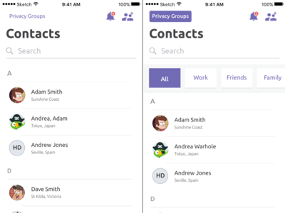 iOS 11 Contacts ios11 list contacts