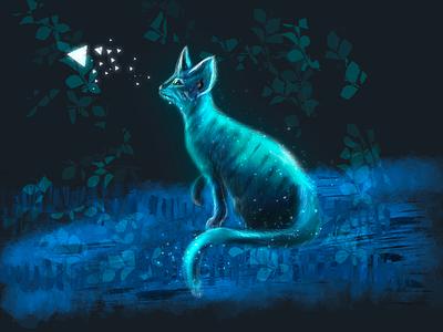 Cat. Free drawing 🤍 cat procreate5 procreate vector digital art illustration drawing