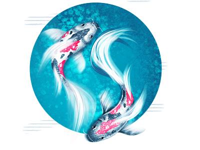 fish illustration fish effects logo abstract graphics vector 2d flat artwork design illustration