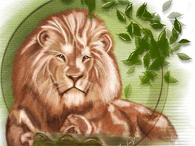 Lion digital illustration pencil drawing artwork lion 2d prints painting illustration digital art