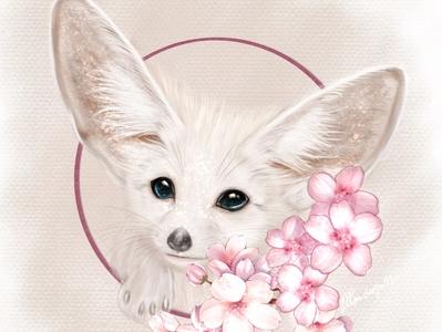 Fennec fox digital art