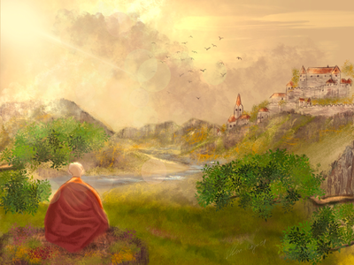 Monk digital art monk digital art procreate