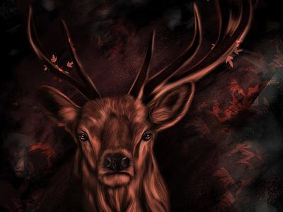 #digital deer 🦌 animal deer procreate drawing artwork design digital