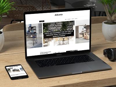 web design for alikante, Bratislava, Slovakia minimal web brand ui  ux design
