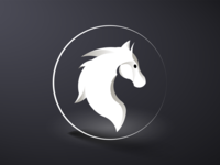 horse abstract logo