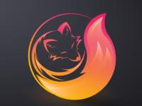 abstract fox icon design