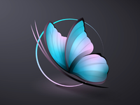 Abstract butterfly icon
